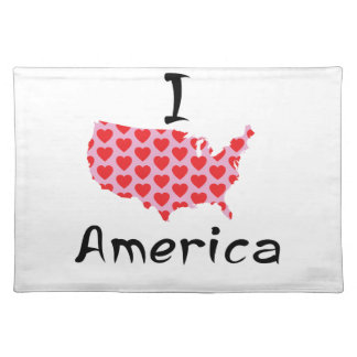 I heart America Placemat
