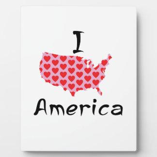 I heart America Plaque