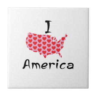 I heart America Tile