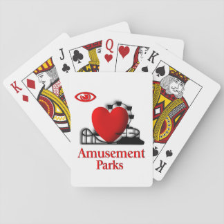 I Heart Amusement Parks Playing Cards