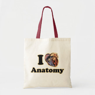 I heart Anatomy Science Super Geek Teacher Tote Bag
