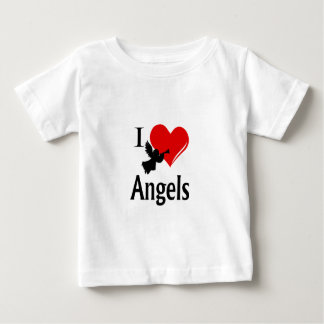 I Heart Angels Baby T-Shirt
