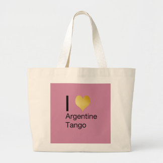 I Heart Argentine Tango Large Tote Bag