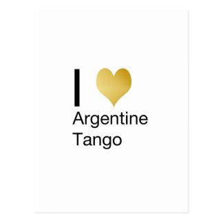 I Heart Argentine Tango Postcard