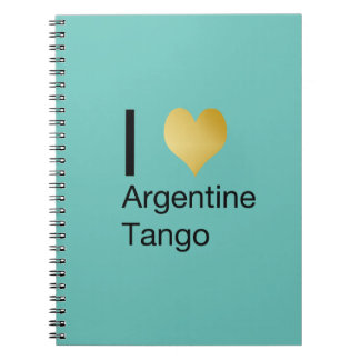 I Heart Argentine Tango Spiral Note Books