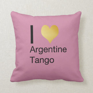I Heart Argentine Tango Throw Pillow