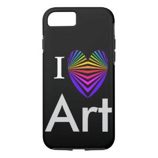 I Heart Art iPhone Case Valentines Artist Popart