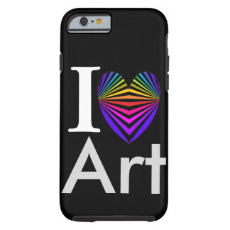 I Heart Art iPhone Case Valentines Artist Popart Tough iPhone 6 Case