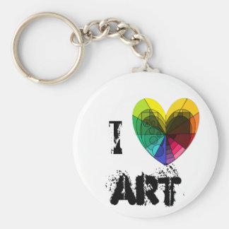 """I [heart] Art"" keychain"