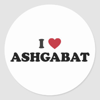 I Heart Ashgabat Turkmenistan Classic Round Sticker