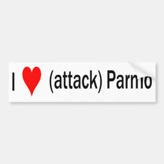 I heart (attack) parmo bumper sticker
