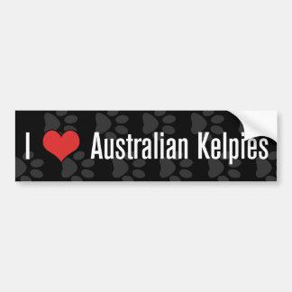 I (heart) Australian Kelpies (Dark) Bumper Sticker