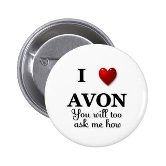 i heart avon ask me how 2 inch round button