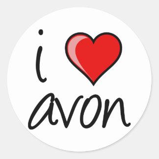 """i heart avon"" Small Sticker"