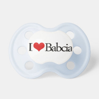 I heart Babcia Grandmother Polish Pacifier