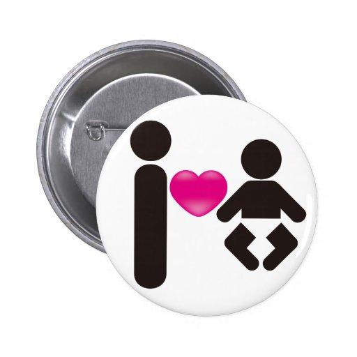 I Heart Baby Pin