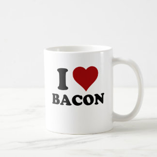 I HEART BACON COFFEE MUG