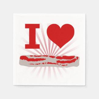 I Heart Bacon Disposable Napkin
