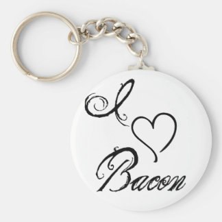 I Heart Bacon Keychain