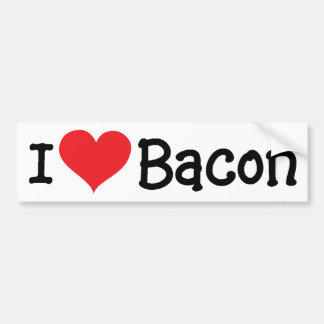 I [heart] Bacon - Sticker Bumper Sticker