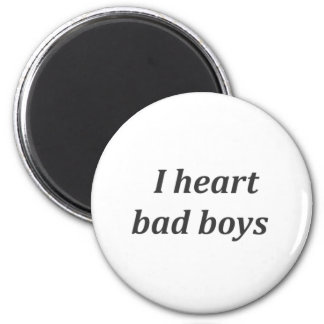 i heart bad boys 2 inch round magnet