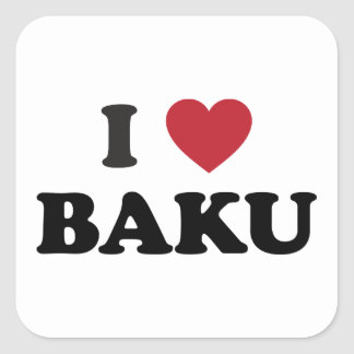 I Heart Baku Azerbaijan Square Sticker
