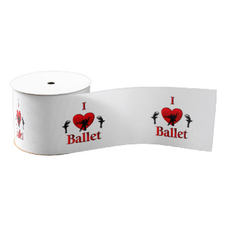 I Heart Ballet Grosgrain Ribbon