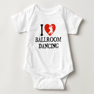 I Heart Ballroom Dancing Baby Bodysuit