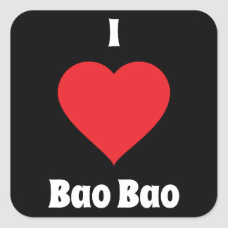 I Heart Bao Bao Square Sticker