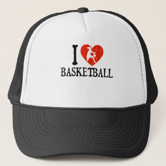 I Heart Basketball - Girl Trucker Hat
