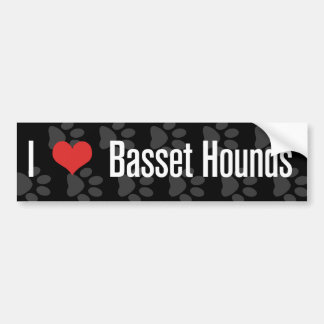 I (heart) Basset Hounds Bumper Sticker