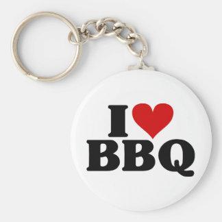 I Heart BBQ Keychain