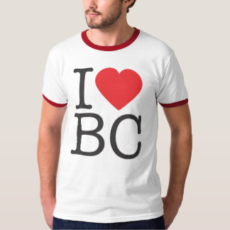I HEART BC - Red Ringer T-Shirt