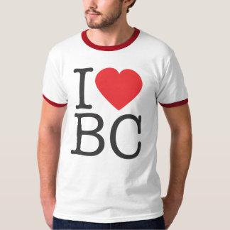 I HEART BC - Red Ringer T-Shirt
