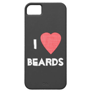 I Heart Beards iPhone 5 Case