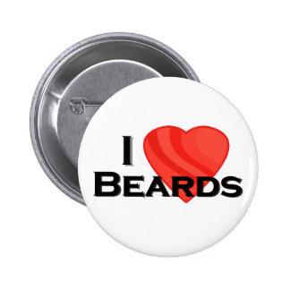 I Heart Beards Pin Back Button