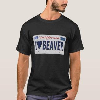 I Heart Beaver License Plate T-Shirt