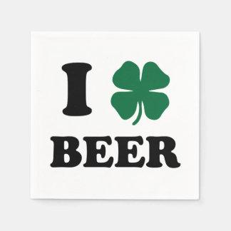 I Heart Beer Disposable Napkin