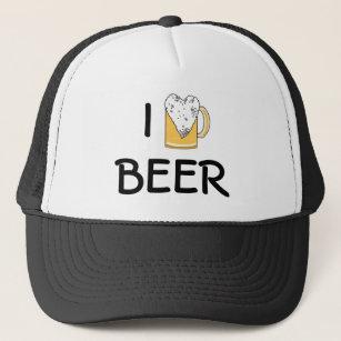 24b53a43c22fb I Heart Beer Foam Trucker Hat
