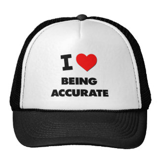 I Heart Being Accurate Hat