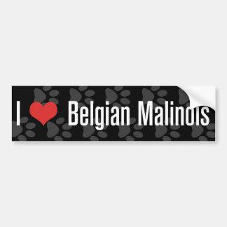 I (heart) Belgian Malinois Bumper Sticker