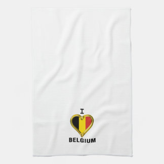I HEART BELGIUM KITCHEN TOWEL