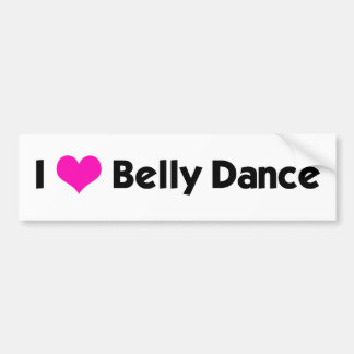 I *heart* Belly Dance - Custom Color Bumper Sticker
