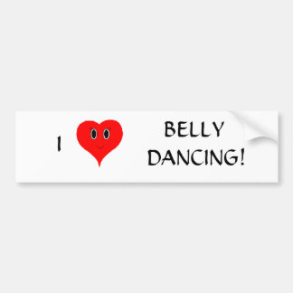 I 'Heart' Belly Dancing Bumper Sticker