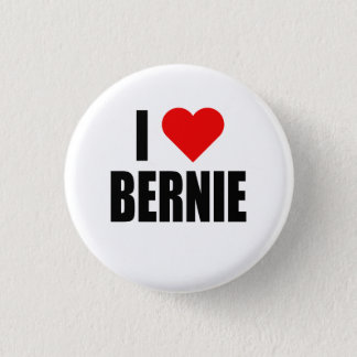 """""""I HEART BERNIE"""" 1 INCH ROUND BUTTON"""