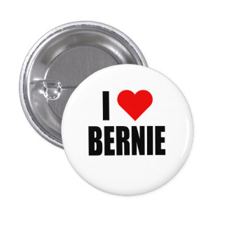 """I HEART BERNIE"" 1 INCH ROUND BUTTON"