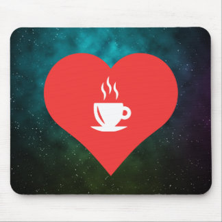 I Heart Beverages Icon Mouse Pad