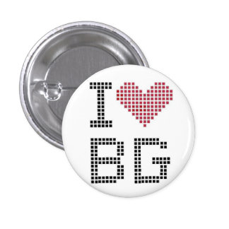 I Heart BG 1 Inch Round Button