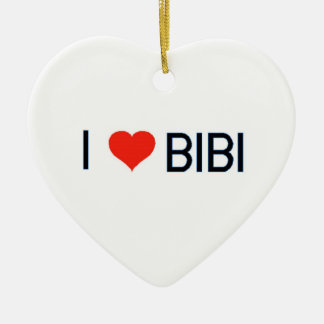 I Heart Bibi Ornament