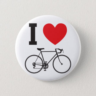I Heart Bicycle 2 Inch Round Button